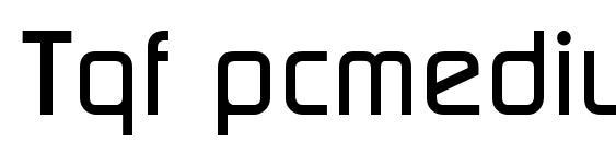 Шрифт Tqf pcmedium