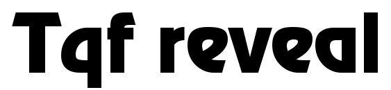 Tqf reveal font, free Tqf reveal font, preview Tqf reveal font