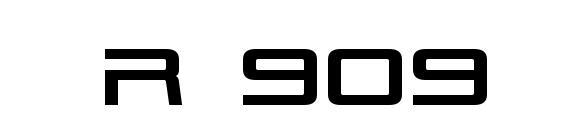 Шрифт Tr 909