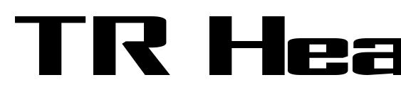 шрифт TR Heavy, бесплатный шрифт TR Heavy, предварительный просмотр шрифта TR Heavy