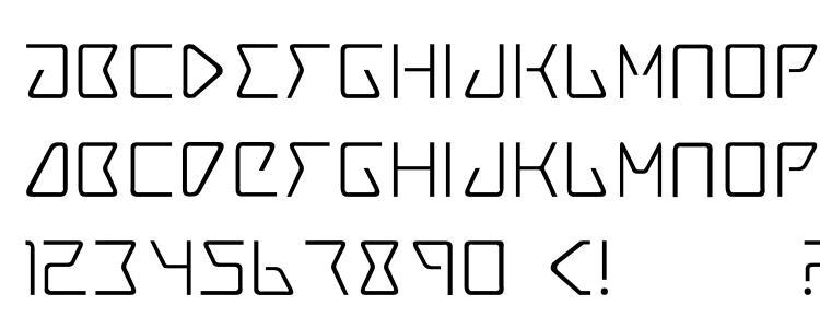 глифы шрифта Trace3, символы шрифта Trace3, символьная карта шрифта Trace3, предварительный просмотр шрифта Trace3, алфавит шрифта Trace3, шрифт Trace3