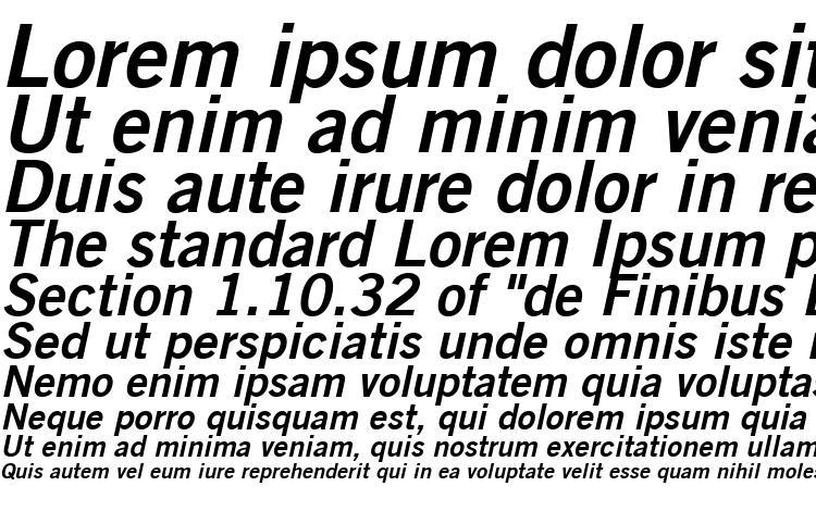 specimens Trade Gothic LT Bold No. 2 Oblique font, sample Trade Gothic LT Bold No. 2 Oblique font, an example of writing Trade Gothic LT Bold No. 2 Oblique font, review Trade Gothic LT Bold No. 2 Oblique font, preview Trade Gothic LT Bold No. 2 Oblique font, Trade Gothic LT Bold No. 2 Oblique font