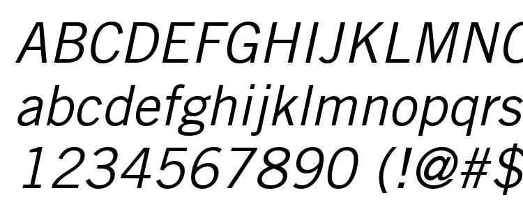 глифы шрифта Trade Gothic LT Oblique, символы шрифта Trade Gothic LT Oblique, символьная карта шрифта Trade Gothic LT Oblique, предварительный просмотр шрифта Trade Gothic LT Oblique, алфавит шрифта Trade Gothic LT Oblique, шрифт Trade Gothic LT Oblique