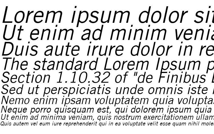 specimens Trade Gothic LT Oblique font, sample Trade Gothic LT Oblique font, an example of writing Trade Gothic LT Oblique font, review Trade Gothic LT Oblique font, preview Trade Gothic LT Oblique font, Trade Gothic LT Oblique font