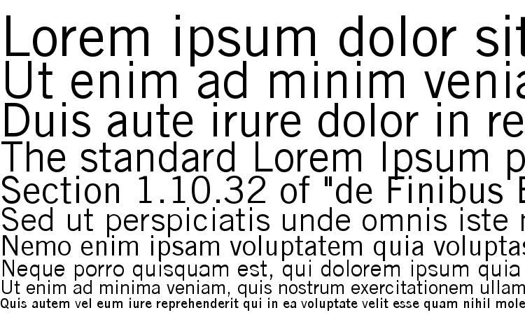 specimens Trade Gothic LT font, sample Trade Gothic LT font, an example of writing Trade Gothic LT font, review Trade Gothic LT font, preview Trade Gothic LT font, Trade Gothic LT font