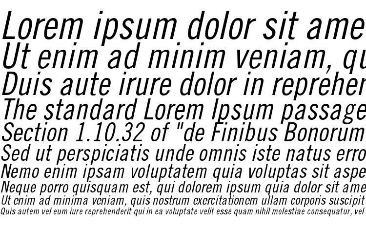 specimens TradeGothicLTStd Cn18Obl font, sample TradeGothicLTStd Cn18Obl font, an example of writing TradeGothicLTStd Cn18Obl font, review TradeGothicLTStd Cn18Obl font, preview TradeGothicLTStd Cn18Obl font, TradeGothicLTStd Cn18Obl font