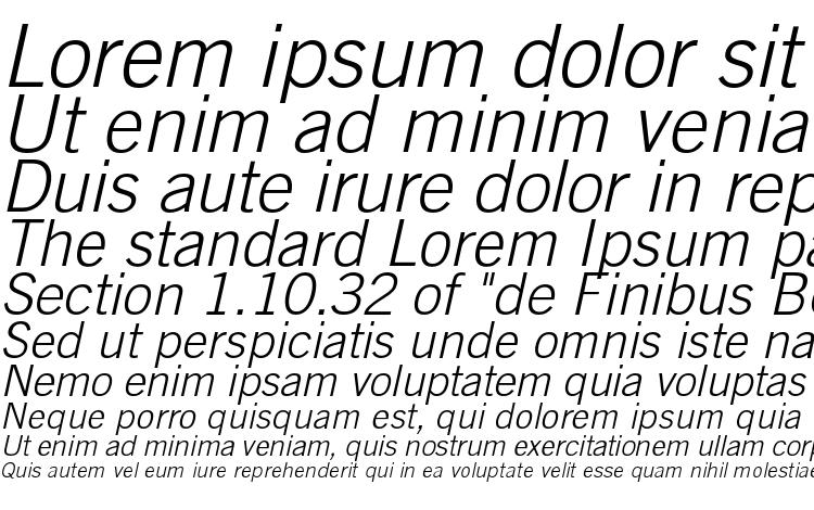 specimens TradeGothicLTStd LightObl font, sample TradeGothicLTStd LightObl font, an example of writing TradeGothicLTStd LightObl font, review TradeGothicLTStd LightObl font, preview TradeGothicLTStd LightObl font, TradeGothicLTStd LightObl font