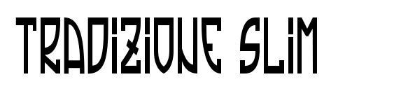 шрифт Tradizione Slim, бесплатный шрифт Tradizione Slim, предварительный просмотр шрифта Tradizione Slim