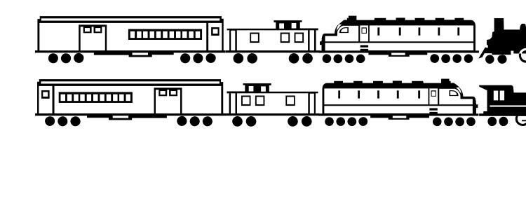 glyphs Trains Regular font, сharacters Trains Regular font, symbols Trains Regular font, character map Trains Regular font, preview Trains Regular font, abc Trains Regular font, Trains Regular font