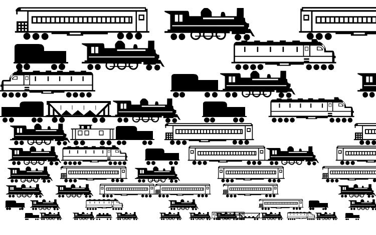 specimens Trains Regular font, sample Trains Regular font, an example of writing Trains Regular font, review Trains Regular font, preview Trains Regular font, Trains Regular font