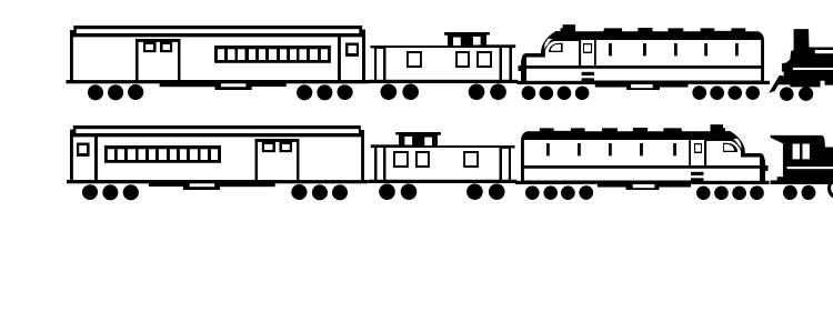 glyphs Trains font, сharacters Trains font, symbols Trains font, character map Trains font, preview Trains font, abc Trains font, Trains font