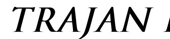Trajan Normal Bold Italic Font