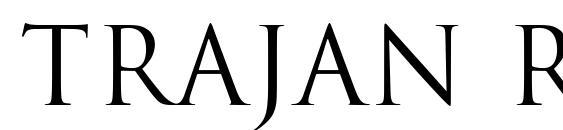 шрифт Trajan Regular, бесплатный шрифт Trajan Regular, предварительный просмотр шрифта Trajan Regular