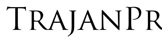TrajanPro Regular font, free TrajanPro Regular font, preview TrajanPro Regular font