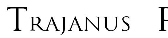 шрифт Trajanus Roman, бесплатный шрифт Trajanus Roman, предварительный просмотр шрифта Trajanus Roman