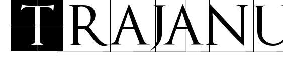 Шрифт Trajanusbrix invers