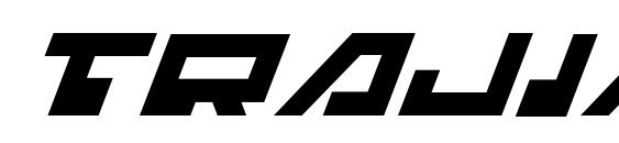 Шрифт Trajia Expanded Italic