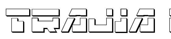 Шрифт Trajia Laser 3D