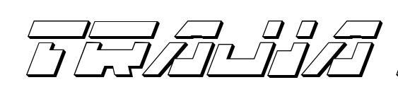 Шрифт Trajia Laser Italic 3D