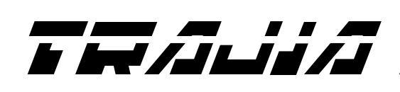 шрифт Trajia Laser Italic, бесплатный шрифт Trajia Laser Italic, предварительный просмотр шрифта Trajia Laser Italic