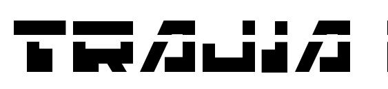 Шрифт Trajia Laser