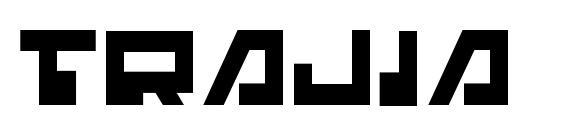 Шрифт Trajia