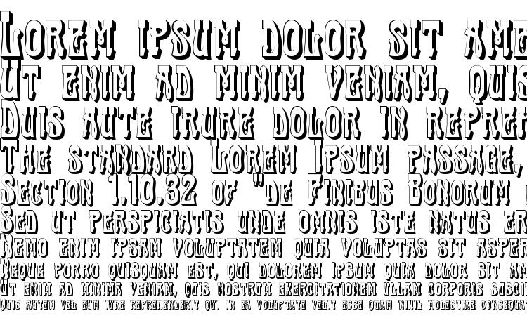 образцы шрифта Traktir Modern 3 D, образец шрифта Traktir Modern 3 D, пример написания шрифта Traktir Modern 3 D, просмотр шрифта Traktir Modern 3 D, предосмотр шрифта Traktir Modern 3 D, шрифт Traktir Modern 3 D