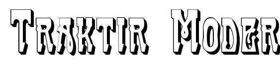Traktir Modern 3 D Font