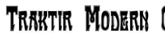 Traktir Modern Contour Font