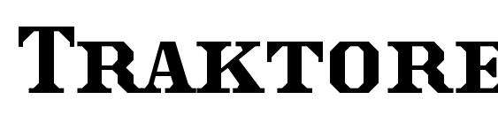 шрифт Traktoretka, бесплатный шрифт Traktoretka, предварительный просмотр шрифта Traktoretka