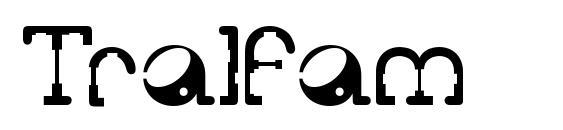 Шрифт Tralfam