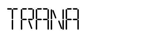 шрифт Trana, бесплатный шрифт Trana, предварительный просмотр шрифта Trana