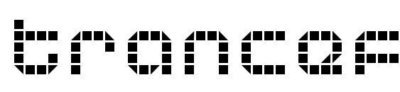 Шрифт Tranceform