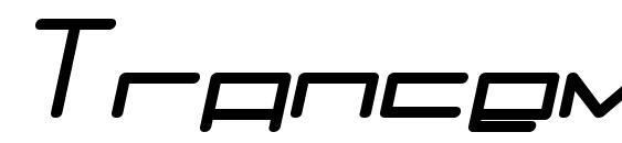 Trancemission bolditalic Font