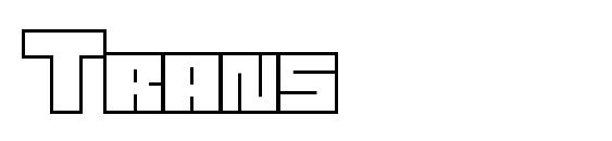Шрифт Trans