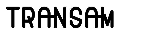 Шрифт Transam