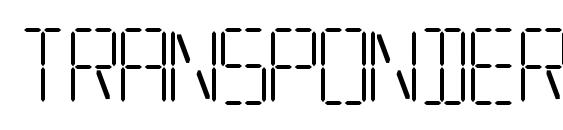 Шрифт Transponder aoe