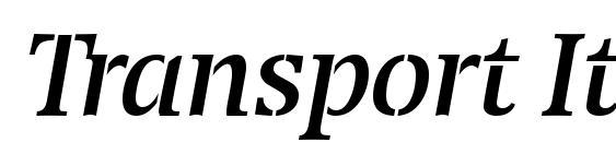Transport Italic Font