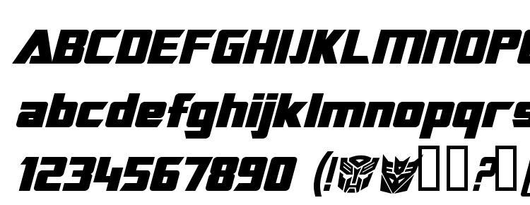 глифы шрифта Transrobotics bold italic, символы шрифта Transrobotics bold italic, символьная карта шрифта Transrobotics bold italic, предварительный просмотр шрифта Transrobotics bold italic, алфавит шрифта Transrobotics bold italic, шрифт Transrobotics bold italic