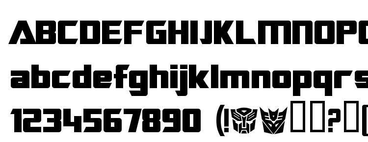 глифы шрифта Transrobotics bold, символы шрифта Transrobotics bold, символьная карта шрифта Transrobotics bold, предварительный просмотр шрифта Transrobotics bold, алфавит шрифта Transrobotics bold, шрифт Transrobotics bold