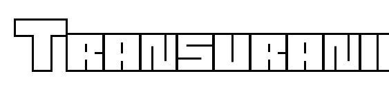 Шрифт Transuranium