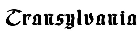 Шрифт Transylvania 1