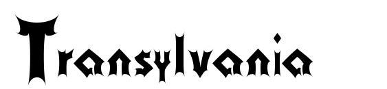 шрифт Transylvania, бесплатный шрифт Transylvania, предварительный просмотр шрифта Transylvania