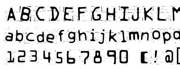 glyphs Trash font, сharacters Trash font, symbols Trash font, character map Trash font, preview Trash font, abc Trash font, Trash font