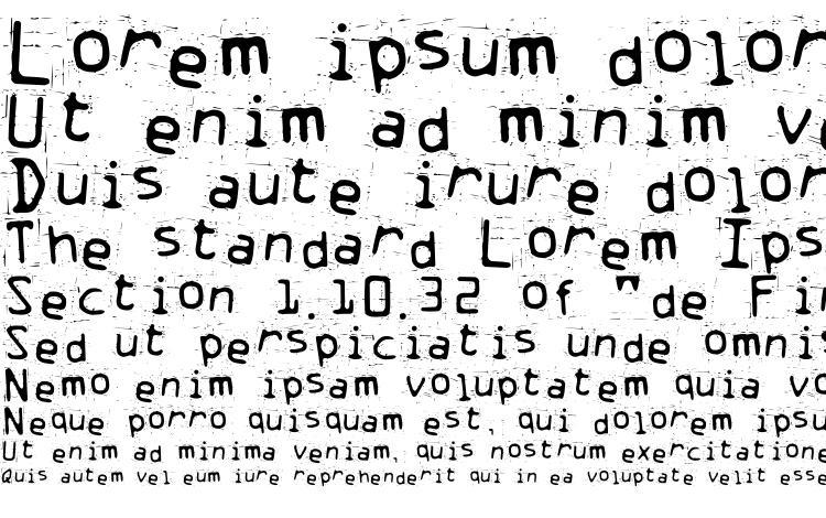 specimens Trash font, sample Trash font, an example of writing Trash font, review Trash font, preview Trash font, Trash font
