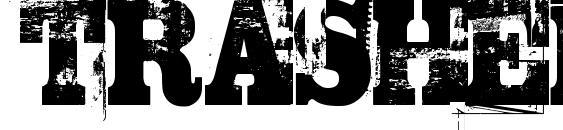 шрифт TRASHED, бесплатный шрифт TRASHED, предварительный просмотр шрифта TRASHED