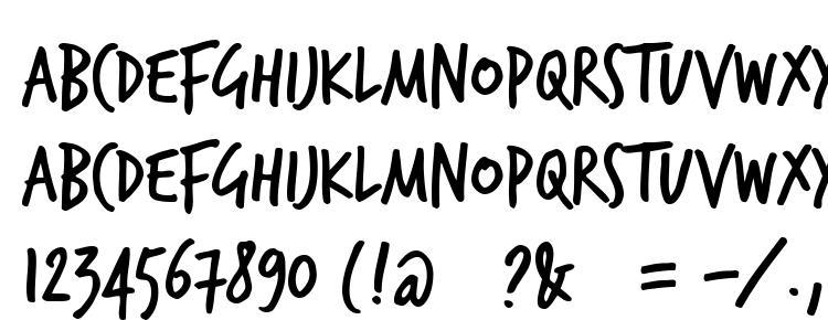 glyphs TrashHand font, сharacters TrashHand font, symbols TrashHand font, character map TrashHand font, preview TrashHand font, abc TrashHand font, TrashHand font