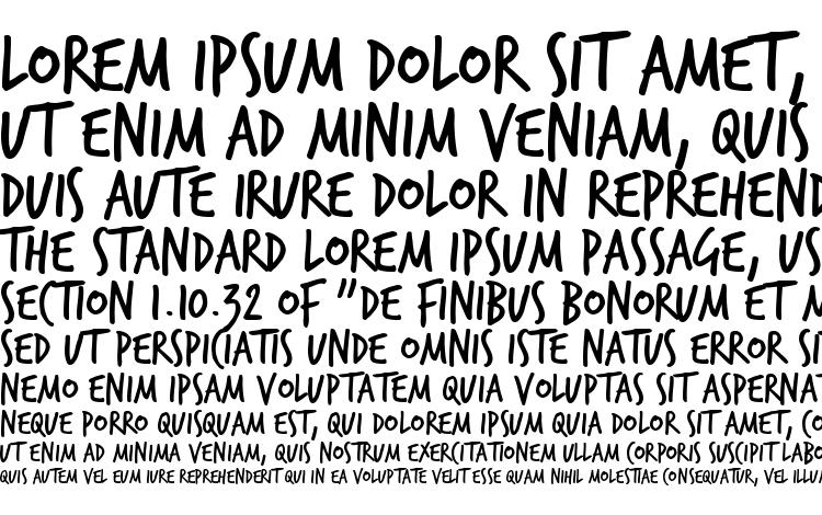 specimens TrashHand font, sample TrashHand font, an example of writing TrashHand font, review TrashHand font, preview TrashHand font, TrashHand font