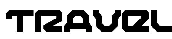 шрифт Traveler Bold, бесплатный шрифт Traveler Bold, предварительный просмотр шрифта Traveler Bold