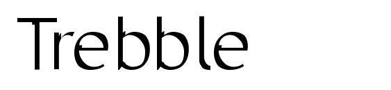 Шрифт Trebble